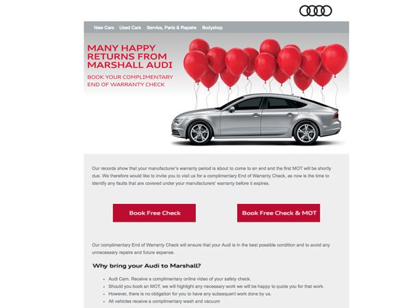 Marshall Audi Warranty Check Eshot Big Marketing - Audi warranty