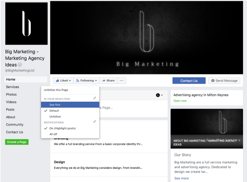 big marketing facebook